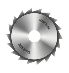 steel blade for the saw vector image vector image
