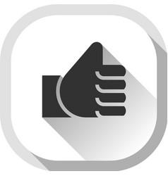 Thumb up gray button vector