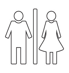Toilet icon wc linear style vector image