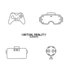 Video game objects vector