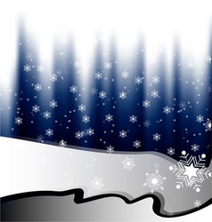 White snow falling on blue background vector image