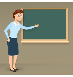 Young female teacher vector