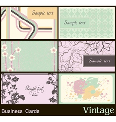 Business card with vintage background vector image