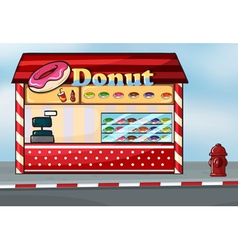 A donut shop vector image