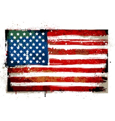 Grungy USA flag vector image