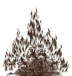 Fire of hell vector