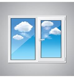 object window sky vector image