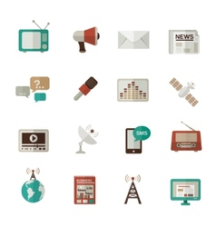 Media icons flat vector