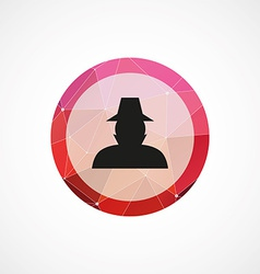 Detective circle pink triangle background icon vector