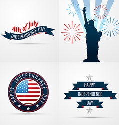 Set of creative pattern of american flag design vector