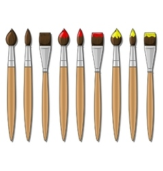 Different brushes vector
