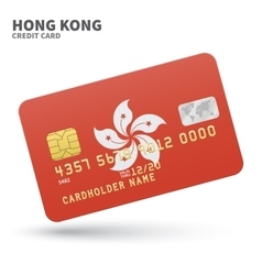 Credit card with hong kong flag background for vector