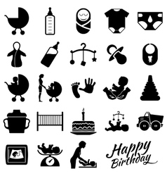 Pregnancy icons vector