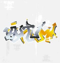 Graffiti autumn vector