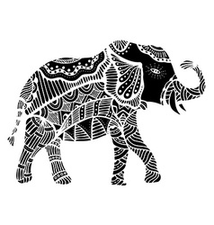 Black indian elephant vector