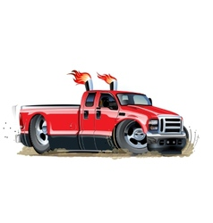 Cartoon pickup vector