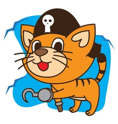 Cat pirates vector