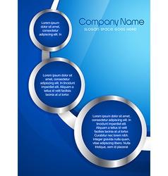 Company brochure design vector