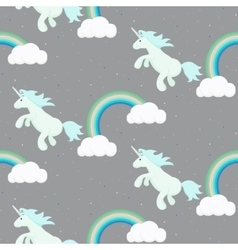 Cute unicorn child seamless pattern vector image vector image