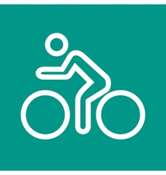 Cycling Person vector image vector image