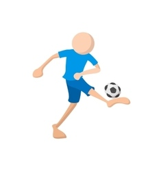 Football soccer cartoon icon vector image
