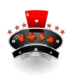Gaming rustic emblem vector image