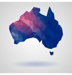 Geometric australia map vector