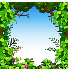 Green forest for you design vector