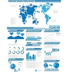 Infographic demographics population 2 vector