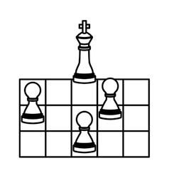 Isolated chess design vector image