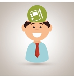 man and notebook isolated icon design vector image