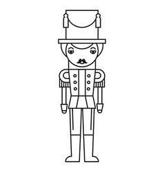 Nutcracker Outlined Silhouette vector image
