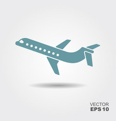 Plane icon in flat design style vector
