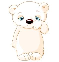 Sad polar bear vector