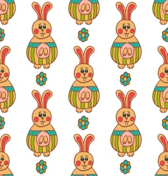 Seamless pattern with Easter bunny-3 vector image