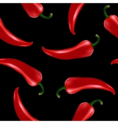 Seamless pattern with red chilli pepper vector