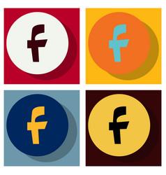 set of facebook logotype social network icon vector image vector image