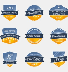 Set of vintage badges in retro style vector