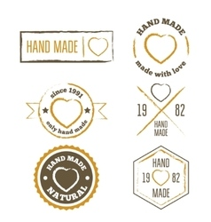 Set of vintage retro handmade badges labels and vector image vector image