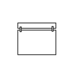 simple calendar icon vector image