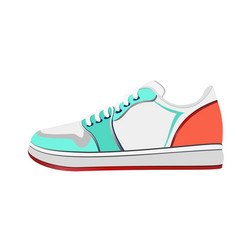 sport shoe bright colorful vector image