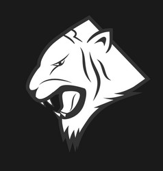 tiger lable vector image vector image