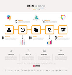 Timeline infographics design template vector