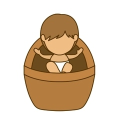 Isolated holy baby jesus design vector