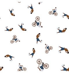 a seamless pattern with the images of people vector image
