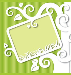 Cut paper background vector image