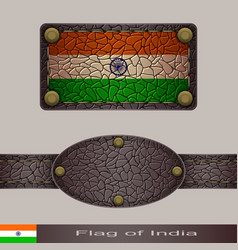 Label of a flag of india vector
