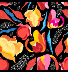 Graphics floral bright pattern vector