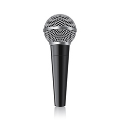 Object modern microphone vector