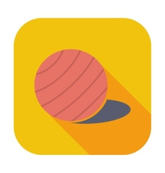 Fittball single icon vector image
